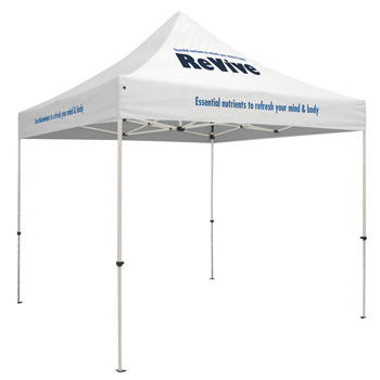 Standard 10' Tent Kit (Full-Color Imprint, 3 Locations)