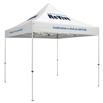 Standard 10' Tent Kit (Full-Color Imprint, 5 Locations)