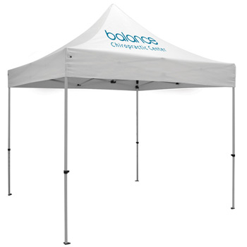 Premium Aluminum 10' Tent Kit (Imprinted, 1 Location)
