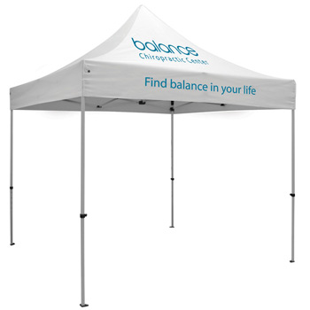 Premium Aluminum 10' Tent Kit (Imprinted, 2 Locations)
