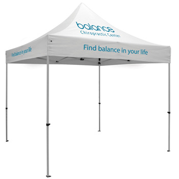 Premium Aluminum 10' Tent Kit (Imprinted, 3 Locations)