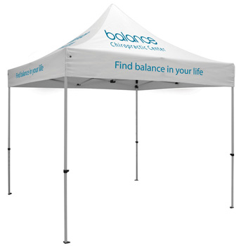 Premium Aluminum 10' Tent Kit (Imprinted, 5 Locations)