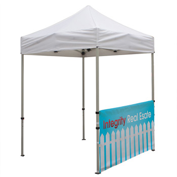 6 Foot Wide Tent Half Wall and Deluxe Stabilizer Bar Kit (Full-Color Full Bleed Dye-Sublimation)