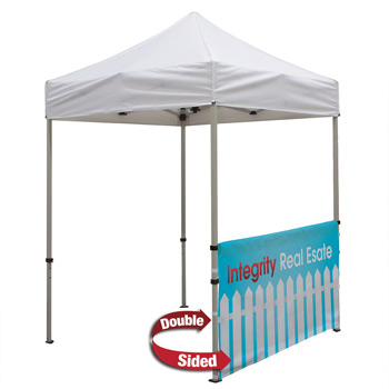 6 Foot Wide Double-Sided Tent Half Wall with liner and Deluxe Stabilizer Bar Kit (Full-Color Full Bleed Dye-Sublimation)