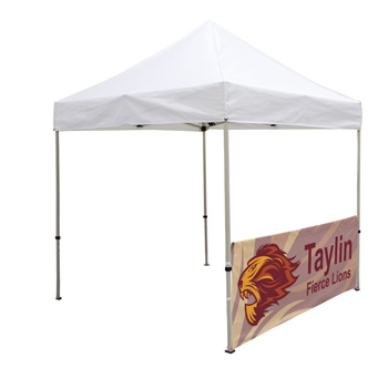 8 Foot Wide Tent Half Wall Only (Full-Color Full Bleed Dye-Sublimation)
