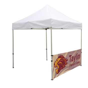 8 Foot Wide Tent Half Wall and Deluxe Stabilizer Bar Kit (Full-Color Full Bleed Dye-Sublimation)