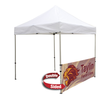 8 Foot Wide Double-Sided Tent Half Wall with liner and Deluxe Stabilizer Bar Kit (Full-Color Full Bleed Dye-Sublimation)
