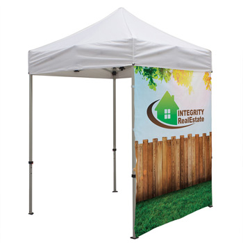 6 Foot Wide Tent Full Wall Only with Zipper Ends (Full-Color Full Bleed Dye-Sublimation)