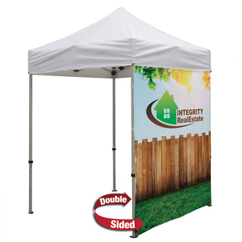 6 Foot Wide Double-Sided Tent Full Wall Only with Liner (Full-Color Full Bleed Dye-Sublimation)