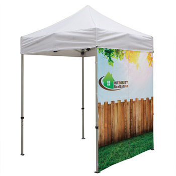 6 Foot Wide Tent Middle Zipper Wall Only with Zipper Ends (Full-Color Full Bleed Dye-Sublimation)