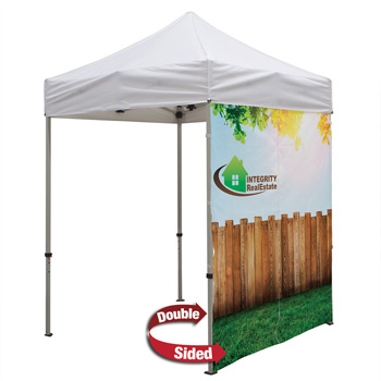 6 Foot Wide Double-Sided Tent Full Wall Only with Liner and Middle Zipper (Full-Color Full Bleed Dye-Sublimation)