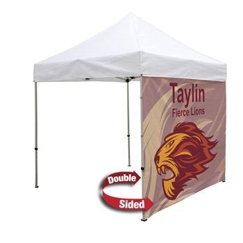 8 Foot Wide Double-Sided Tent Full Wall Only with Liner (Full-Color Full Bleed Dye-Sublimation)