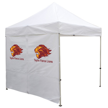 8 Foot Wide Tent Middle Zipper Wall with Zipper Ends - White or Black Only (Full-Color Thermal Imprint)