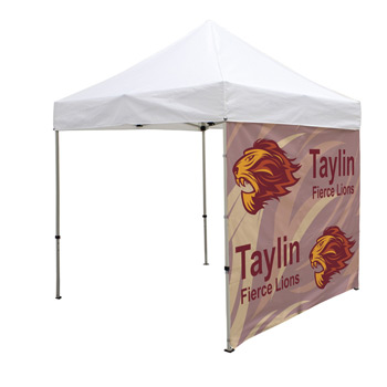 8 Foot Wide Tent Middle Zipper Wall Only with Zipper Ends (Full-Color Full Bleed Dye-Sublimation)