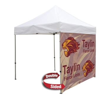 8 Foot Wide Double-Sided Tent Full Wall Only with Liner and Middle Zipper (Full-Color Full Bleed Dye-Sublimation)