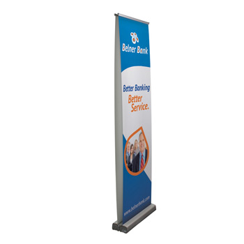 "24"" Optimum Retractor (2-Banner, No-Curl Opaque Fabric)"