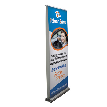 "31.5"" Optimum Retractor (2-Banner, No-Curl Opaque Fabric)"