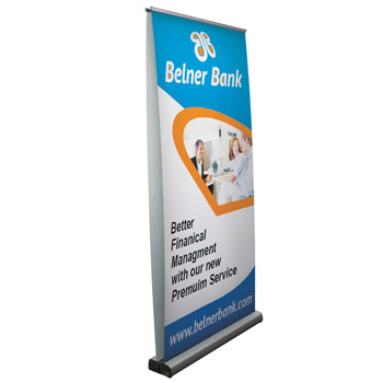"40"" Optimum Retractor (2-Banner, No-Curl Opaque Fabric)"