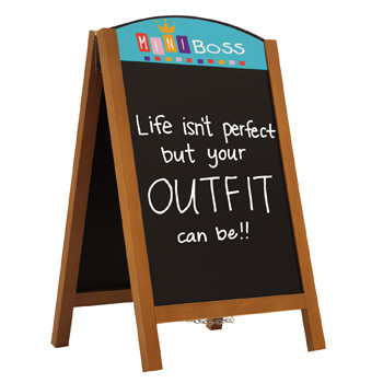 "34"" Quick Change Wood A-Frame Chalkboard Kit"