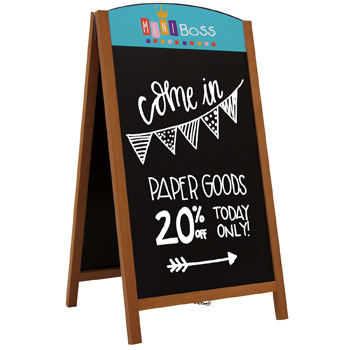 "48"" Quick Change Wood A-Frame Chalkboard Kit"