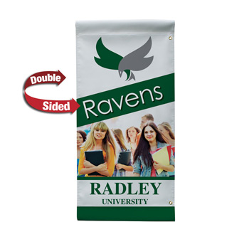 "18 oz. Opaque Vinyl 2-Sided Boulevard Banner - 24"" x 48"""