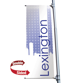 "18 oz. Opaque Vinyl 2-Sided Boulevard Banner - 24"" x 60"""