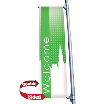 "18 oz. Opaque Vinyl 2-Sided Boulevard Banner - 24"" x 72"""