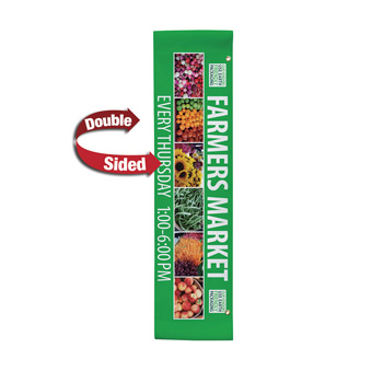 "18 oz. Opaque Vinyl 2-Sided Boulevard Banner - 24"" x 96"""