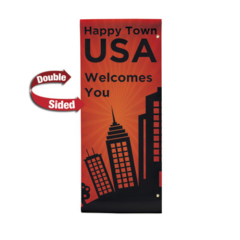 "18 oz. Opaque Vinyl 2-Sided Boulevard Banner - 30"" x 72"""