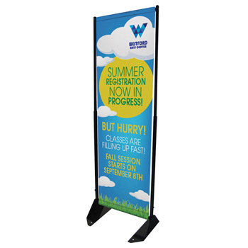"15""W x 74""H Outdoor Anchored Banner Frame Replacement Banner"