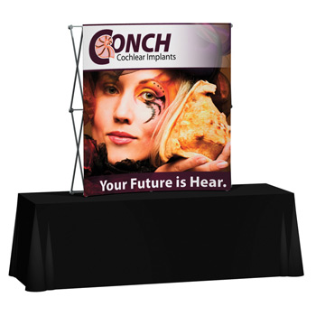 Splash 6' Curve Tabletop Kit with Face Graphic
