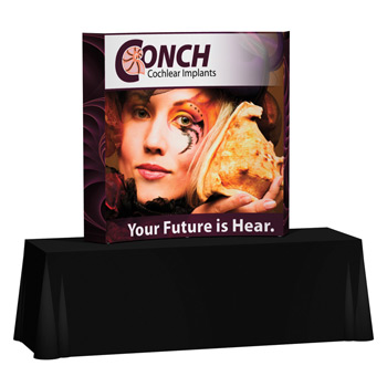 Splash 6' Curve Tabletop Kit with Wrap Graphic