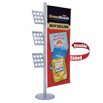 Flex Banner Display Single-Banner with Lit Rack Kit