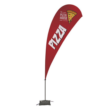 13' Teardrop Value Sail Sign - 1-Sided with Cross Base