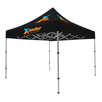 Compact 10' Tent Kit (Full-Color Imprint, Three Locations)