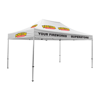 Premium Aluminum 15' Tent Kit (Imprinted, 12 Locations)