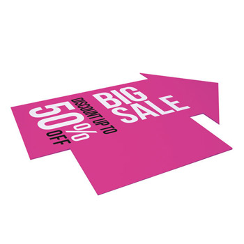 10mm Arrow Signboard for Outdoor Rigid Base (Double-Sided)