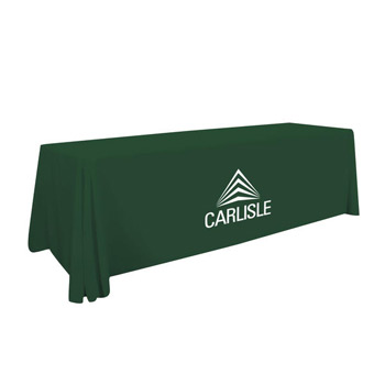 6' Value Lite Table Throw (White Imprint, One Location)